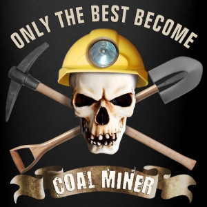 coal_miner_pick_ax_spade_skull_b Mugs & Drinkware - Full Color Mug
