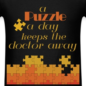 A puzzle a day keeps doctor away - Men's T-Shirt