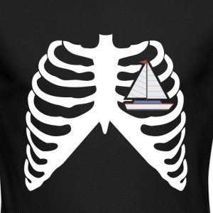 MY HEART BEATS FOR SAILING - I LOVE SALING! Long Sleeve Shirts - Men's Long Sleeve T-Shirt by Next Level