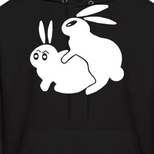 Rude, Rabbits Humping,Funny - Men's Hoodie