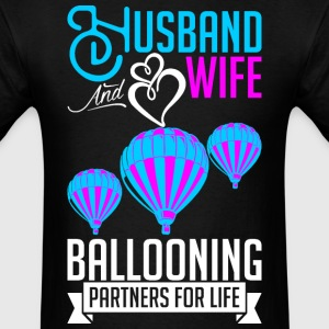 Husband And Wife Ballooning Partners For Life T-Shirts - Men's T-Shirt