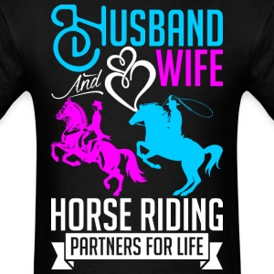 Husband And Wife Horse Riding Partners For Life T-Shirts - Men's T-Shirt