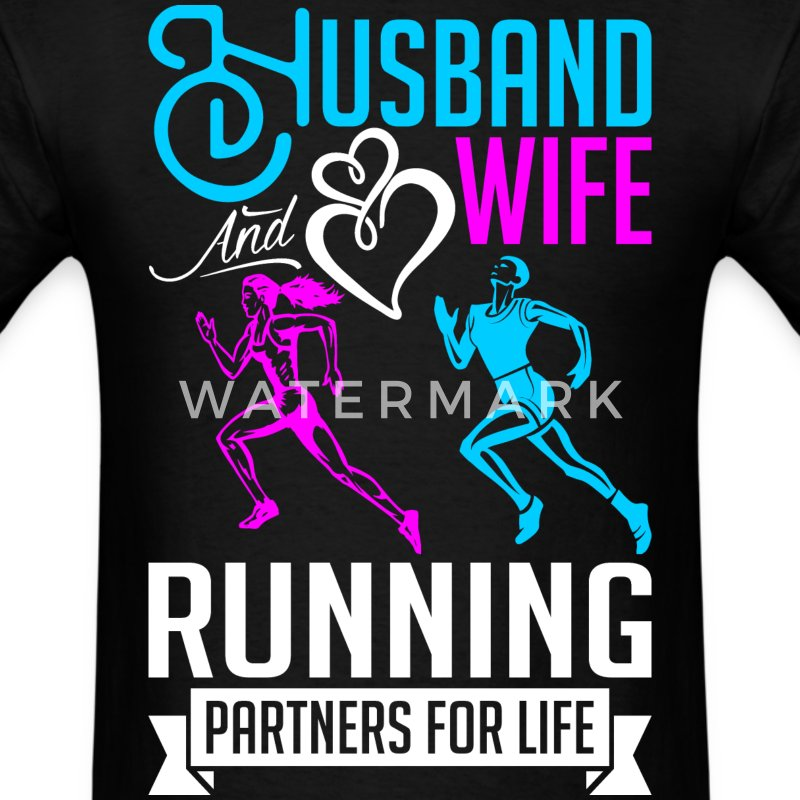 Husband And Wife Running Partners For Life T-Shirts - Men's T-Shirt