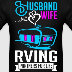 Husband And Wife RVing Partners For Life T-Shirts - Men's T-Shirt
