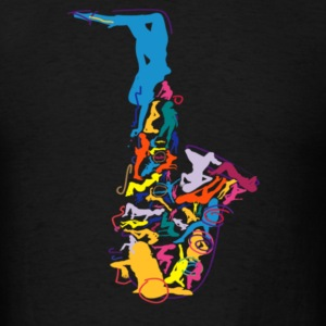 Sax Addict saxophone - Men's T-Shirt