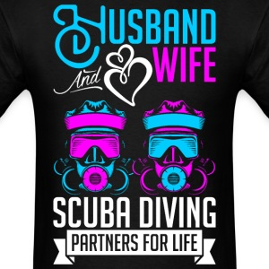 Husband And Wife Scuba Diving Partners For Life T-Shirts - Men's T-Shirt