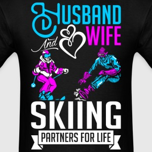 Husband And Wife Skiing Partners For Life T-Shirts - Men's T-Shirt