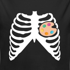 My Heart Beats For Painting - I Love Painting Baby Bodysuits - Long Sleeve Baby Bodysuit