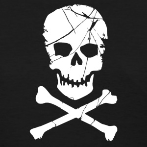 Skull and Crossbones Pirate Neon - Women's T-Shirt