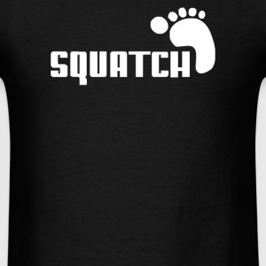 SQUATCH FOOTPRINT funny - Men's T-Shirt