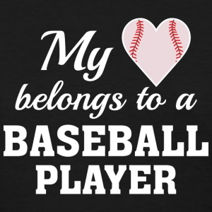 Heart Belongs Baseball - Women's T-Shirt
