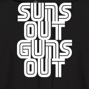 Suns Out Guns Out LOL Funny - Men's Hoodie