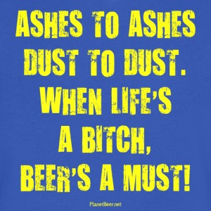 Beer's A Must! Men's V-Neck T-Shirt - Men's V-Neck T-Shirt by Canvas