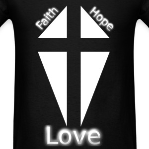 Faith Hope Love Cross - Men's T-Shirt