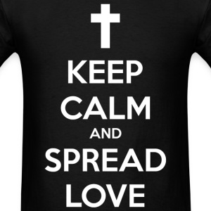 Keep Calm and Spread Love - Men's T-Shirt