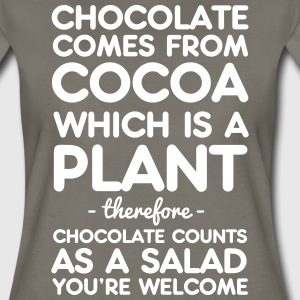 Chocolate Comes from Cocoa which is a plant T-Shirts - Women's Premium T-Shirt