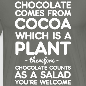 Chocolate Comes from Cocoa which is a plant T-Shirts - Men's Premium T-Shirt