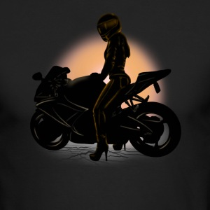 motorcycle girl Long Sleeve Shirts - Men's Long Sleeve T-Shirt by Next Level