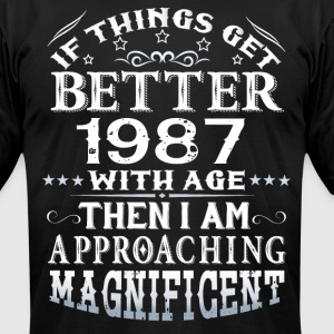 IF THINGS GET BETTER WITH AGE-1987 T-Shirts - Men's T-Shirt by American Apparel