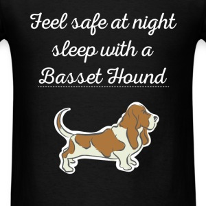 Feel safe at night sleep with a Basset Hound - Men's T-Shirt