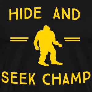 Bigfoot. Hide and Seek Champ T-Shirts - Men's Premium T-Shirt
