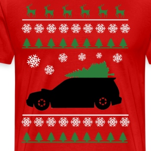 Forester XT Christmas Sweater (white snowflakes)  T-Shirts - Men's Premium T-Shirt