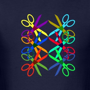 Colorful Scissors - Men's T-Shirt