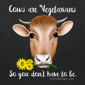 Cows are Vegetarians Design - Tote Bag