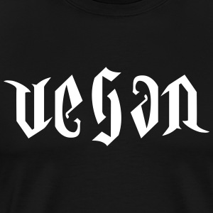 VEGAN AMBIGRAM V2 T-Shirts - Men's Premium T-Shirt