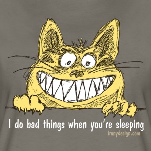 Bad Cat Humor - Women's Premium T-Shirt