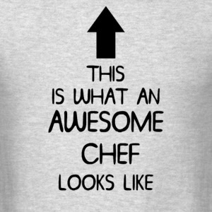 AWESOME CHEF T SHIRT MENS LADIES  - Men's T-Shirt