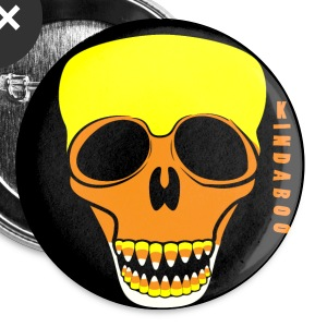 Candy Corn Skull - large button - Large Buttons