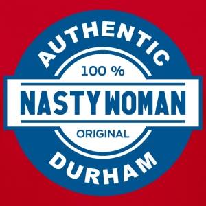 Women's Authentic Durham Nasty Woman v-neck tee - Women's V-Neck T-Shirt