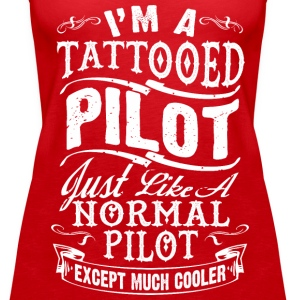 TATTOOED PILOT WOMEN PREMIUM TANKTOP - Women's Premium Tank Top