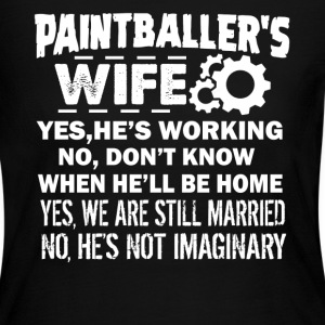 Paintballer Wife Shirt - Women's Long Sleeve Jersey T-Shirt