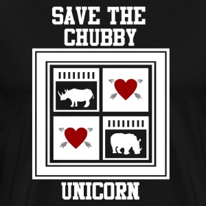 SAVE THE CHUBBY UNICRON 2.png T-Shirts - Men's Premium T-Shirt