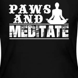 Paws And Meditate Shirt - Women's Long Sleeve Jersey T-Shirt