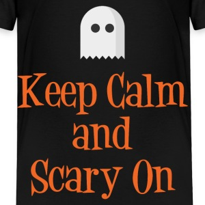 Keep Calm and Scary On Baby & Toddler Shirts - Toddler Premium T-Shirt