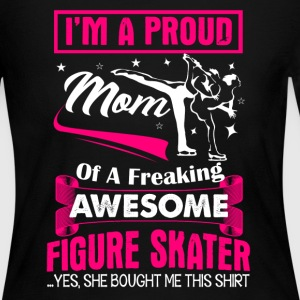 Proud Figure Skater Mom - Women's Long Sleeve Jersey T-Shirt