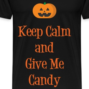 Keep Calm & Give Me Candy T-Shirts - Men's Premium T-Shirt