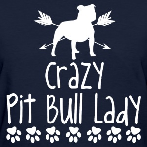 crazy pitbull lady2.png T-Shirts - Women's T-Shirt