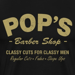 Pops Barber Shop - Men's Premium T-Shirt