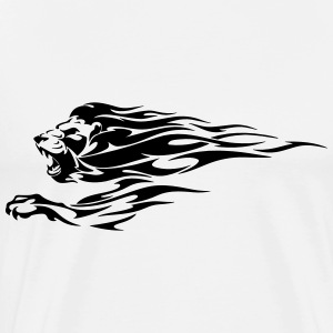 Tribal Fire Lion - Men's Premium T-Shirt