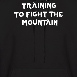 training to fight the mountain - Men's Hoodie