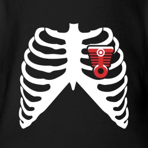 MY HEART BEATS FOR MUSCLE CARS! I LOVE MUSCLE CARS! Baby Bodysuits - Short Sleeve Baby Bodysuit
