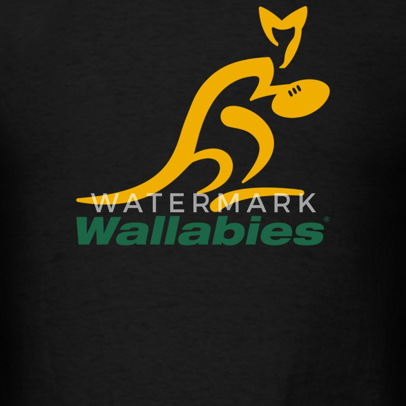 Wallabies Gold Logo - Men's T-Shirt