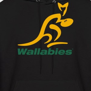Wallabies Gold Logo - Men's Hoodie