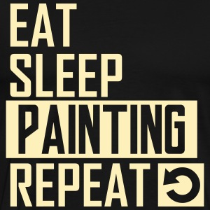eat sleep painting T-Shirts - Men's Premium T-Shirt