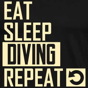 eat sleep diving T-Shirts - Men's Premium T-Shirt