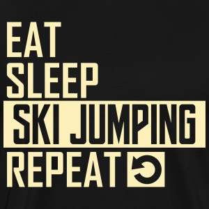 eat sleep ski jumping T-Shirts - Men's Premium T-Shirt